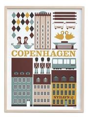 Ferm Living Copenhagen Poster - Small