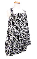 Trend Lab Black and White Zebra Nursing Cover
