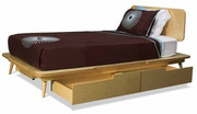 TrueModern 11 Ply Twin Bed with 2 Drawers