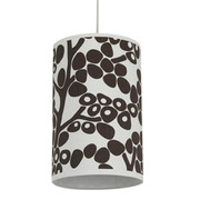Oilo Modern Berries Cylinder Light - Brown