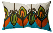 "Koko Company Coptic 15"" x 27"" Pillow - Blue and Orange"