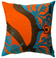 "Koko Company Coptic 18"" x 18"" Pillow - Orange"