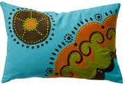 "Koko Company Coptic 13"" x 20"" Pillow - Blue"