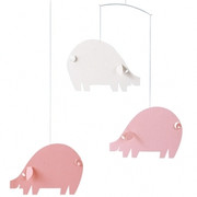 Flensted Mobiles Pig Mobile - Pink