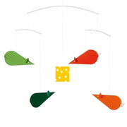 Flensted Mobiles Cheese Mice Mobile - Green-Red-Orange