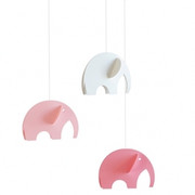 Flensted Mobiles Olephant Mobile - Pink