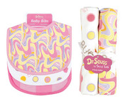 Trend Lab Dr. Seus Pink Oh The Places You'll Go - Bib and Burp Cloth