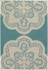 Chandra Rugs Thomas Paul - Tufted Pile Doily Aqua-Cream Area Rug
