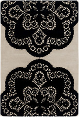 Chandra Rugs Thomas Paul - Tufted Pile Doily Ebony-Cream Area Rug