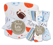 Trend Lab Little MVP Hooded Towel and Wash Cloth Set
