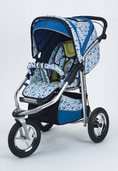 Baby Bling Caribbean Peacock ATS Safety Stroller with all the Strollers Accessories