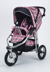 Baby Bling Papillion Pink ATS Safety Stroller with all the Strollers Accessories