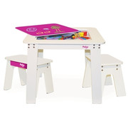 Pkolino Chalk Table and Benches - Fuchsia
