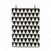 Ferm Living Triangle Tea Towel - Black