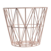 Ferm Living Wire Basket in Rose - Medium