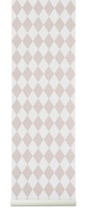 Ferm Living Harlequin Wallpaper - Rose