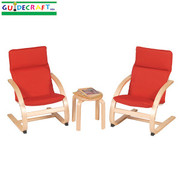 Guidecraft Kiddie Rocker Chair Set - Red