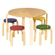 Guidecraft Nordic Table and Chairs Set - Color