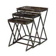 Powell Gloss Metal Set of 3 Nesting Tables