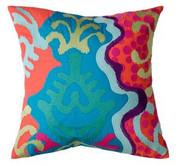 Koko Company Totem 18 x 18 Pillow - Pink/Mauve/Green