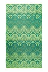 Koko Company 5' x 9' Floormat Sari Border - Jade