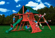 Gorilla Playsets Sun Climber I - Canvas Forest Green Sunbrella