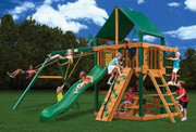 Gorilla Playsets Chateau II Supreme - Canvas Forest Green Sunbrella