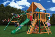 Gorilla Playsets Chateau II Supreme - Weston Ginger Sunbrella