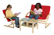 Guidecraft Nordic Rocker Reading Area - Red