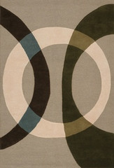 Chandra Rugs Bense Garza BEN3021 Grey Area Rug