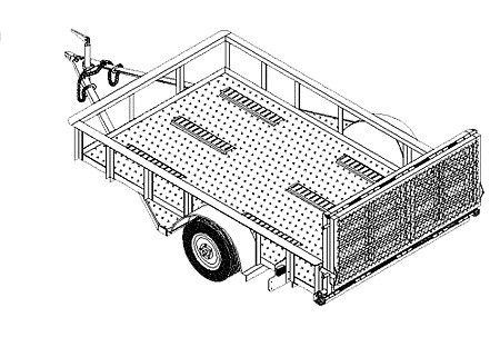 10CY - 10'x6' Motorcycle/Utility Trailer- 17 How-to Steps w/Blueprints