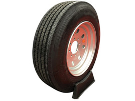 "Goodride  17.5"" 18 ply Radial Trailer Tire & Wheel - ST 235/75R17.5 8 Lug (Super Single Silver Solid)"