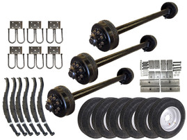 9k Triple Axle TK Trailer kit - 27000 lb Capacity