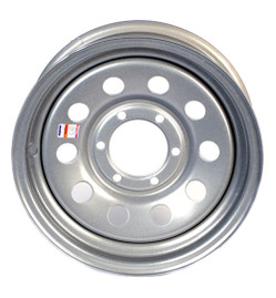 16 Inch Silver Mod Trailer wheel-6 Lug