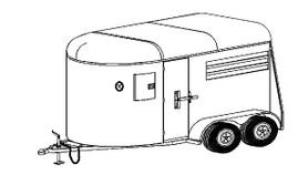 12HR - 6' x 12'  2 Horse Tandem Trailer DIY Master Plan - 22 How-to Steps w/Blueprints