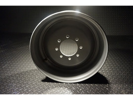 17.5 Inch 8 lug Silver Solid Steel Single Trailer Wheel