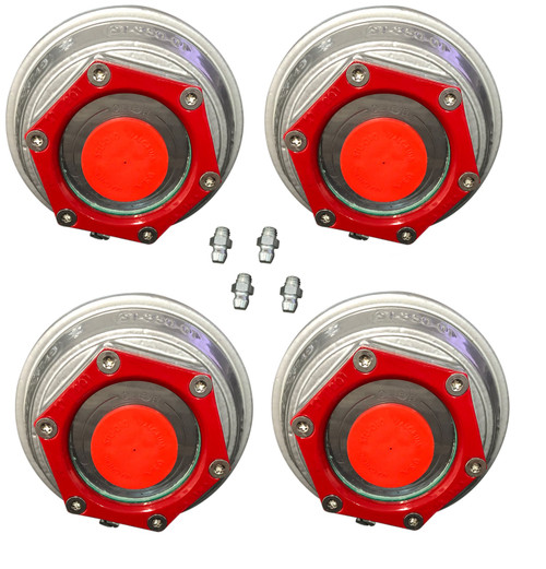 "Valcrum 3.5"" Universal Threaded Hub Cap - 9k/10k GD/#13G Capacity Axle Application (4 Pack)"