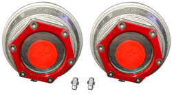 "Valcrum 3.5"" Universal Threaded Hub Cap - 9k/10k GD/#13G Capacity Axle Application (2 Pack)"