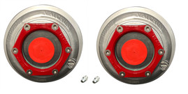 "Valcrum 4"" Universal Threaded Hub Cap - 9k/10k12k/15k Capacity Axle Application (2 Pack)"