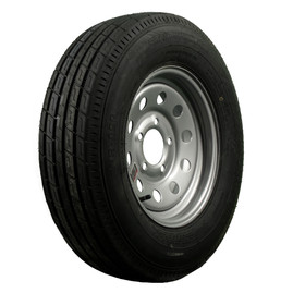 "Trailfinder 13"" 6 ply Radial Trailer Tire & Wheel - ST 175/80R13 - 5 x 4.5 Lug - Silver Mod"