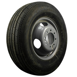 "TrailFinder 16"" 10 ply Radial Trailer Tire & Wheel - ST 235/80 R16 - 8 lug Dual"