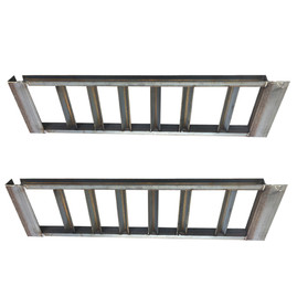 "Pair of 3"" Channel Heavy Duty Steel Loading Ramps (8,000 lb Capacity)"