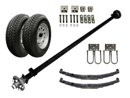 3.5k Light Duty Single Axle TK Trailer kit - 3500 lb Capacity