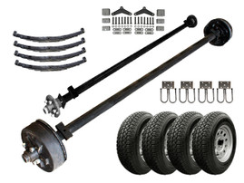 3.5k Light Duty Tandem Axle TK Trailer kit - 7000 lb Capacity