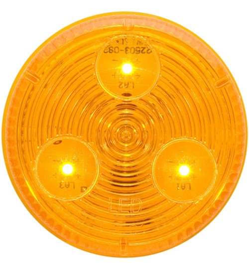 """2"""" Round Sealed LED Marker/Clearance Lights - Amber"""