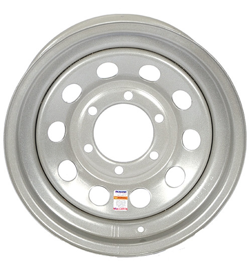 15 Inch Silver Mod Trailer Wheel - 6 lug