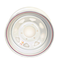 15 Inch White Spoke Trailer Wheel - 6 lug