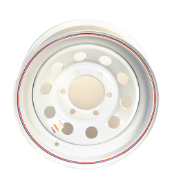 15 Inch White Mod Trailer Wheel - 6 lug