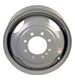 16 Inch Silver Solid Steel Dual Trailer Wheel- 8 Lug