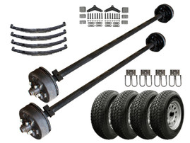 3.5k Heavy Duty Tandem Axle TK Trailer kit - 7000 lb Capacity